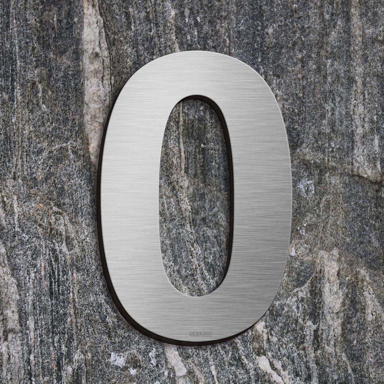 200mm qobobo/® N/úmero Casa 8 Ocho Signo Vivienda Calle de 304 Acero Inoxidable Cepillado