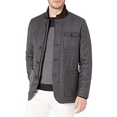 Bugatchi Men's Quilted Wool Bour Button Blazer Jacket at Men's Clothing store