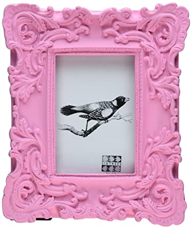 sixtrees baroque frame 4 by 6 inch pink