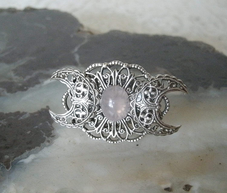 Wicca Spiral Goddess Bracelet Ring Pagan Jewellery Various Gemstones Witch Lunar Goddess
