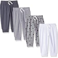 Amazon Essentials 4-Pack Pull-on Pant Bebé-Niños, Pack de 4