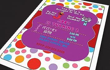 Amazon Com Customized Elmo Abby Birthday Party Invitations 30