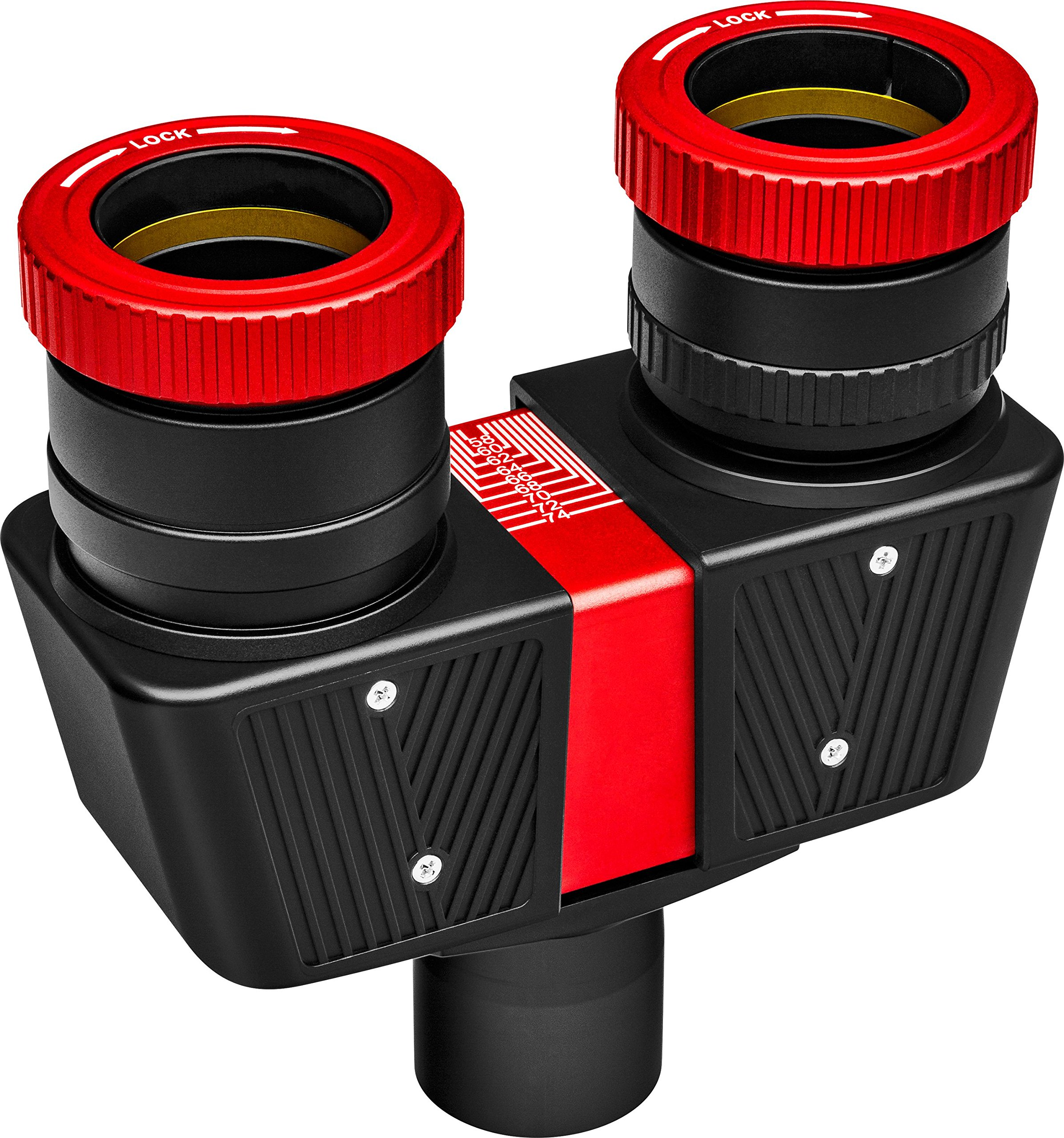 Orion 52054 Premium Telescope Binocular Viewer, Black with Red Trim by Orion