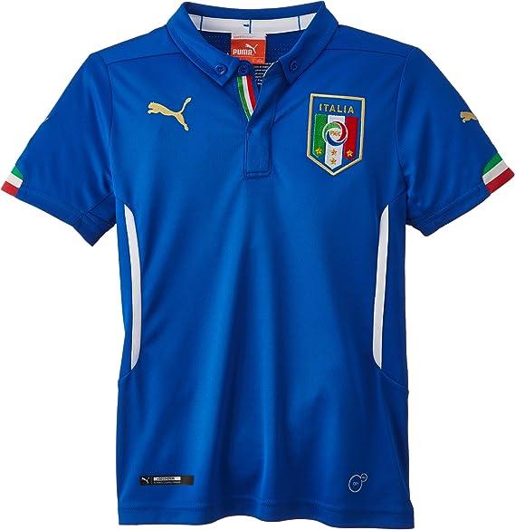 Puma T-Shirt FIGC Italia Leisure tee - Camiseta de equipación de fútbol para niño: Amazon.es: Ropa y accesorios