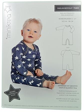 Schnittmuster Raglan Strampler für Neugeborene & Babys / Gr. 44-98cm ...