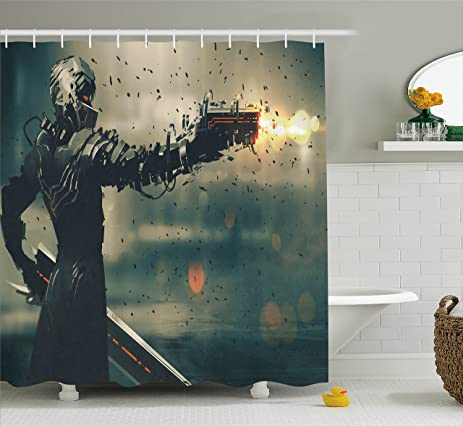 Amazon Fantasy Shower Curtain By Ambesonne Sci Fi Game