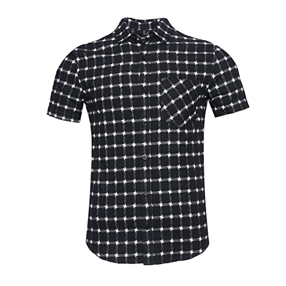 Amazon Com Nutexrol Men S Western Slim Fit Cotton Short Sleeve