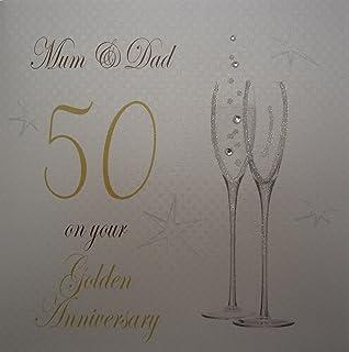 Subito Disponibile Biglietto Auguri Anniversario Nozze D Oro 50 Anni