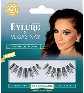 d426cf7be17 Eylure Vegas Nay False Eyelashes, Reusable, Adhesive Included, 1 Pair,  Cruelty Free