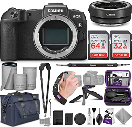 Canon Eos Rp Mirrorless Digital Camera Body Canon Ef Eos R Mount Adapter With Altura Photo Complete Accessory And Travel Bundle