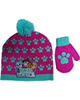 747757bf158 Nickelodeon Paw Patrol Girls Beanie Hat and Mittens Set - Size Toddler   4013
