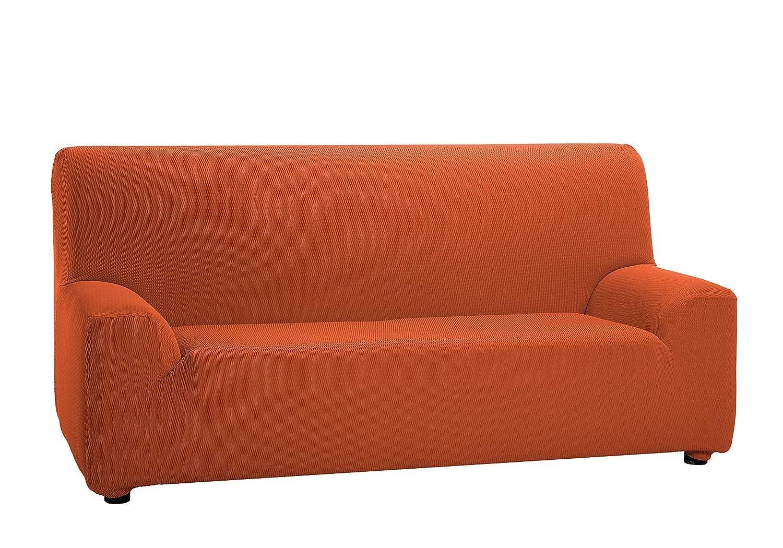 Martina Home Tunez, Funda elástica para sofá, color Naranja, medidas para 2 Plazas (120-190 cm)