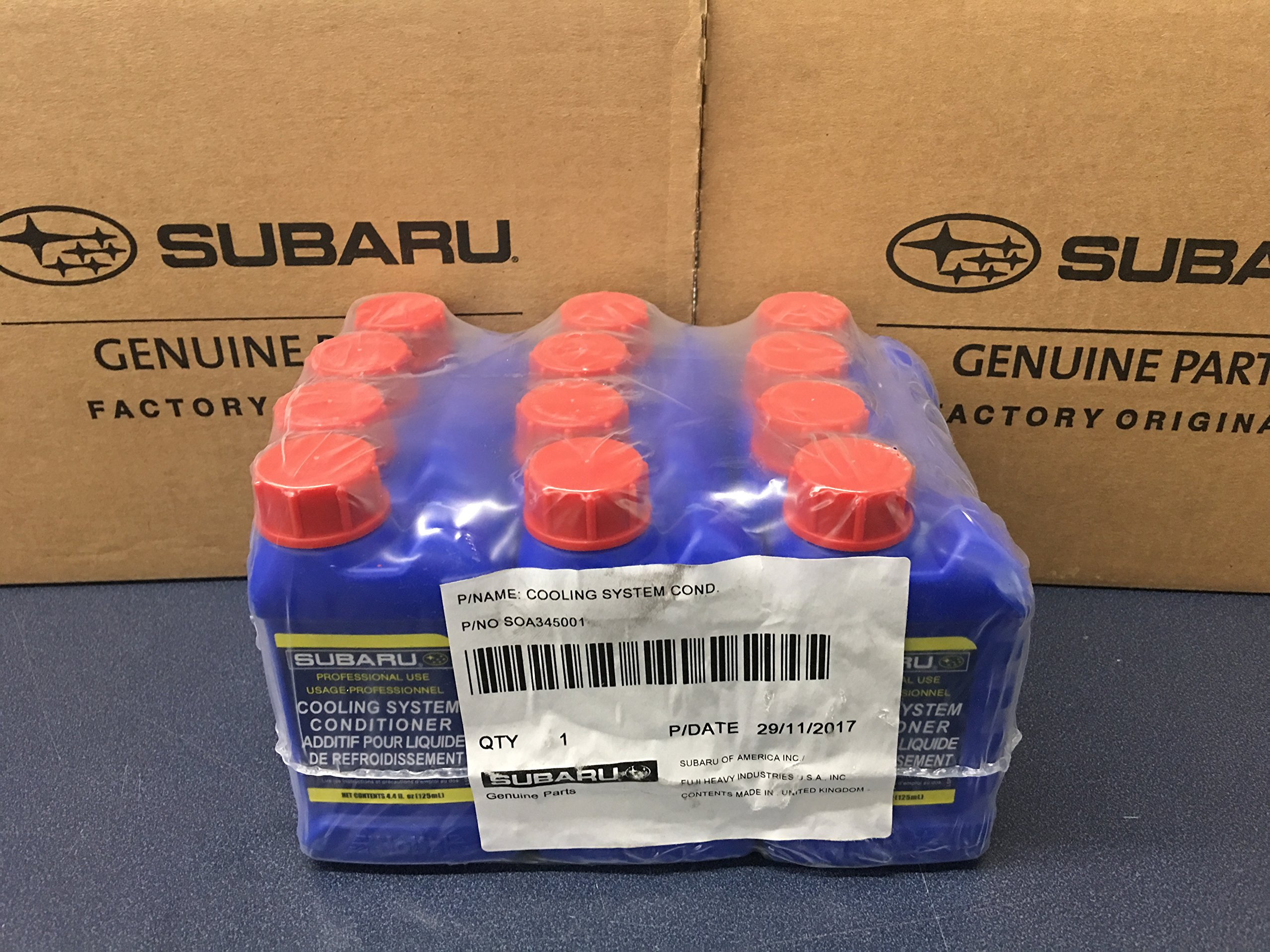 Genuine Subaru Cooling System Conditioner Coolant Head Gasket 12 Pack Case SOA635071