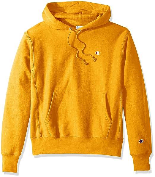 4cd5eb35 Champion Life Men's Reverse Weave Pullover Hoodie, C Gold/Left Chest C Logo,