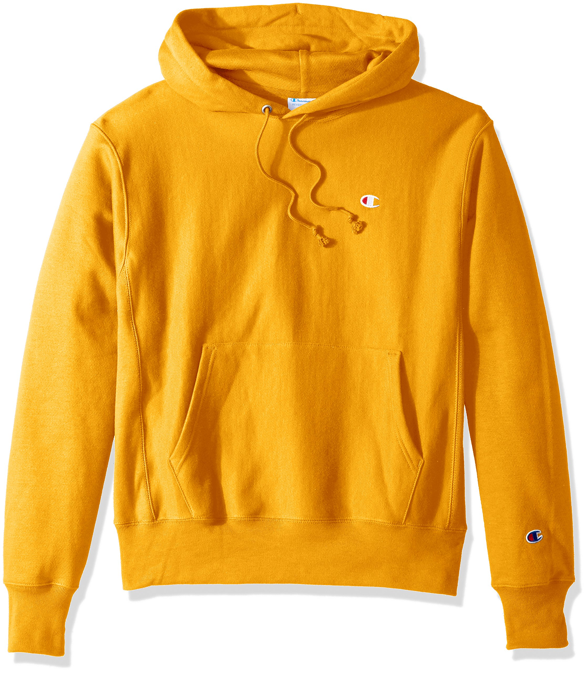Champion LIFE Men's Reverse Weave Pullover Hoodie, C Gold/Left Chest C Logo, Small by Champion LIFE