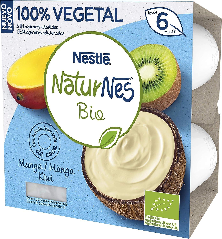 Nestlé Naturnes Bio Tarrina Coco Mango Kiwi 4 x 90 g - 360 g