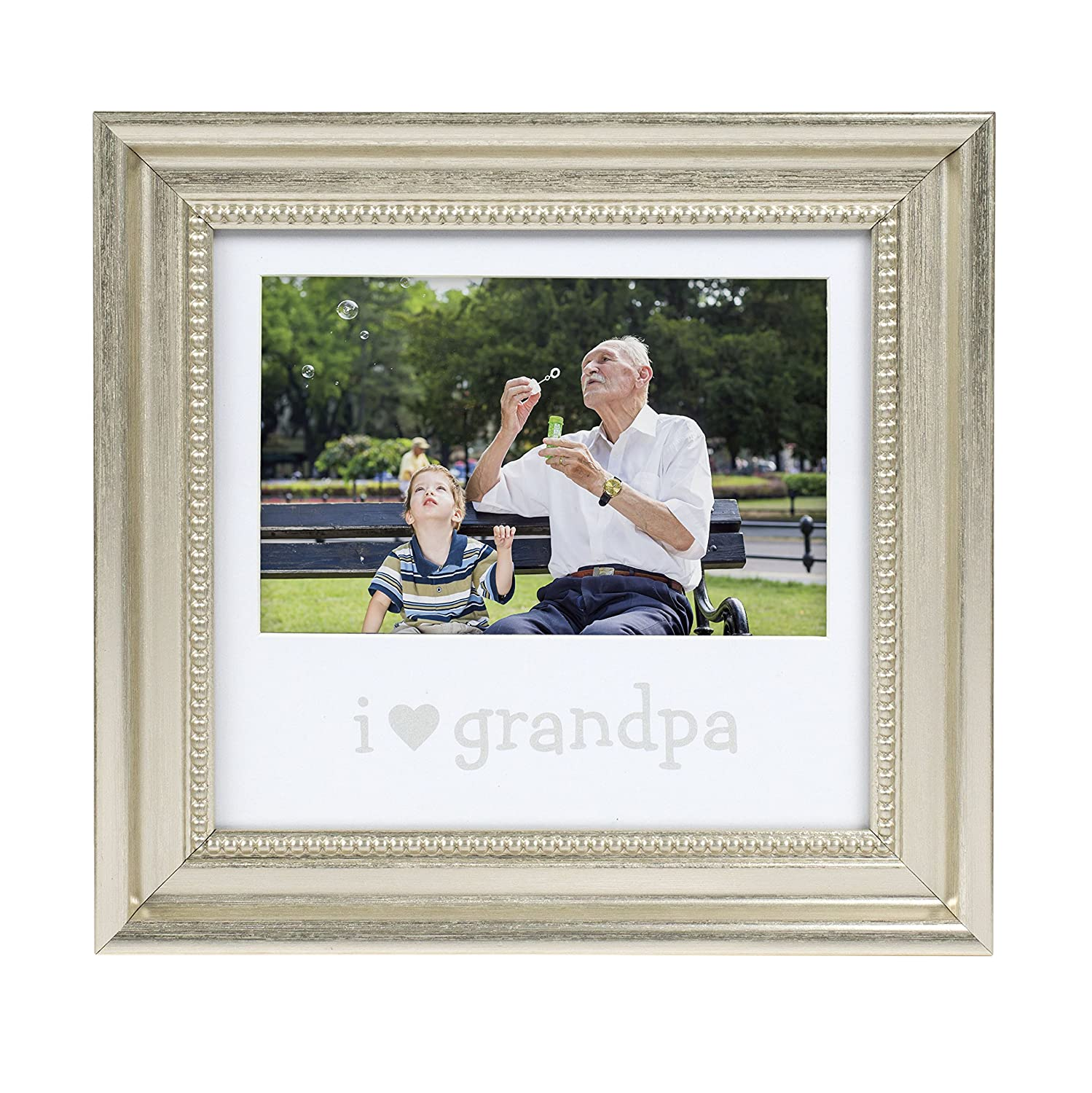 Lil Peach I Love Grandma Keepsake Sentiment Photo Frame Displays One 4 x 6 Picture, Silver Pearhead 93046