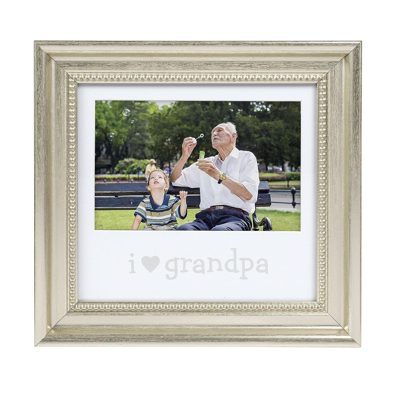 Lil Peach I Love Grandma Keepsake Sentiment Photo Frame Displays One 4 x 6 Picture, Silver Pearhead 93046