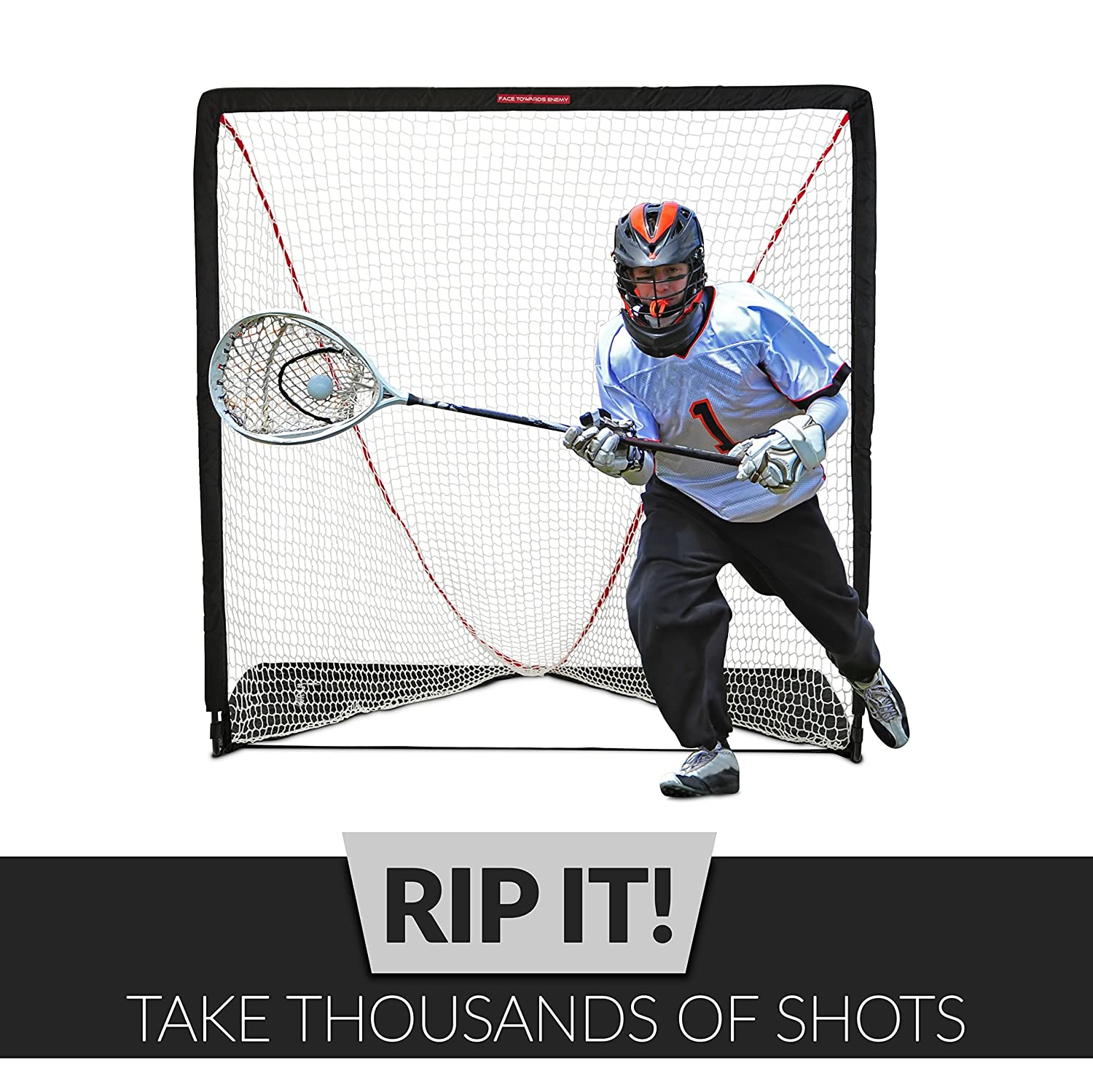 amazon com rukket rip it portable lacrosse goal pop up lax net