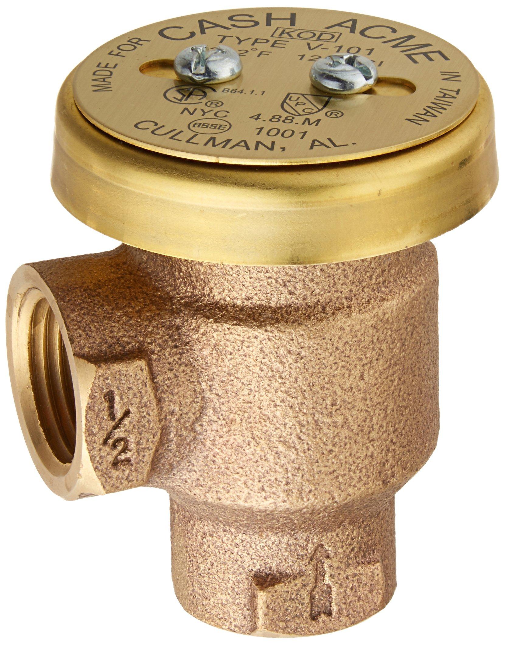 Cash Acme 17383-0000 V-101 1/2-Inch Brass Anti-Siphon Vacuum Breaker
