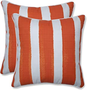 Pillow Perfect Outdoor   Indoor Nico Marmalade 16.5 Inch Throw Pillow, 16.5 X 16.5 X 5, Orange