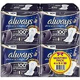 Always - Ultra Secure Night - Serviettes Hygieniques avec Ailettes 9x taille 4 - Lot de 4