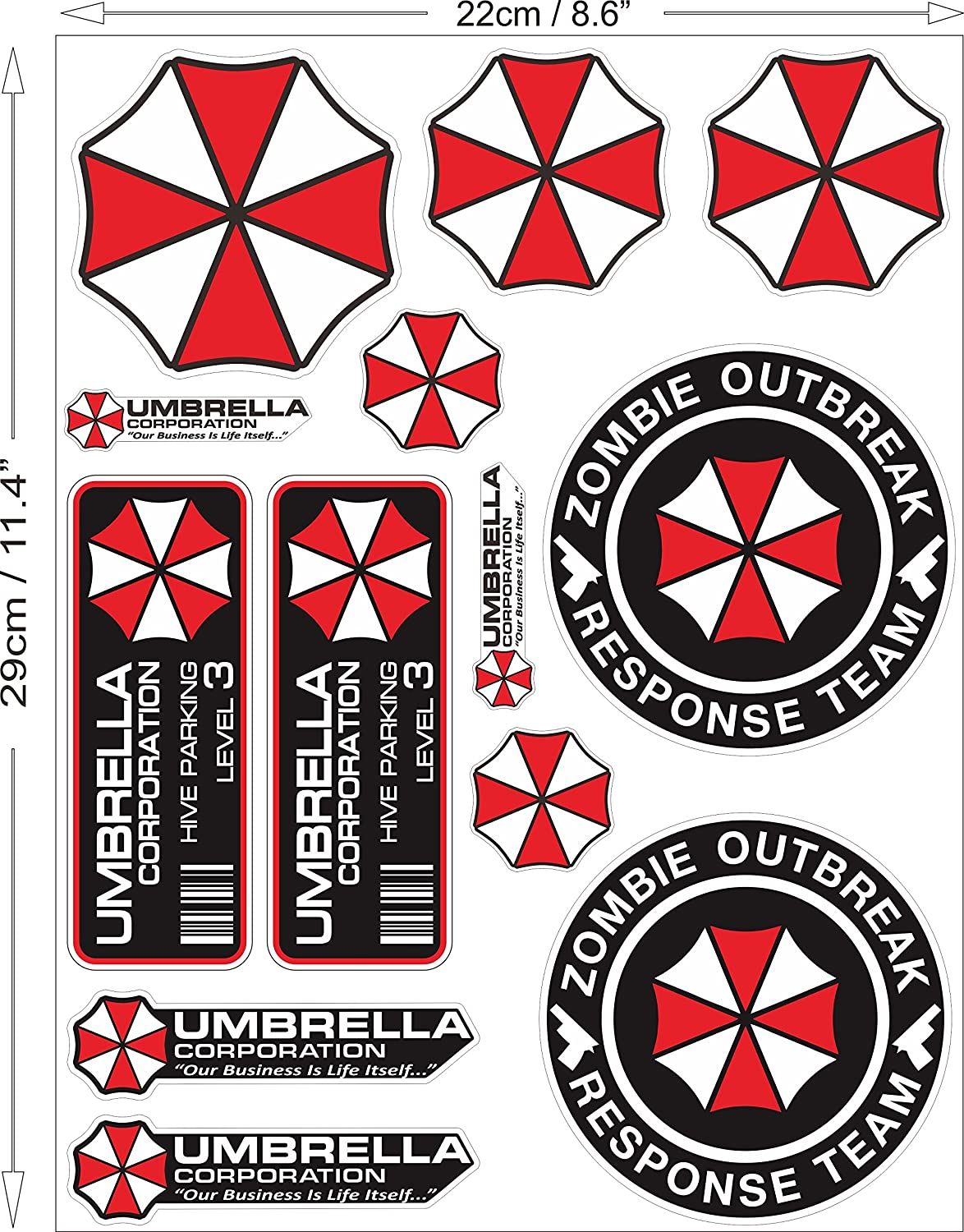 Amazon.com: Umbrella Corporation Juego Resident Evil Zombie ...