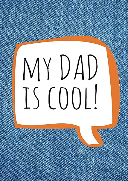 My Dad es Cool A4 tarjeta - Fathers Day tarjeta grande, Dad ...