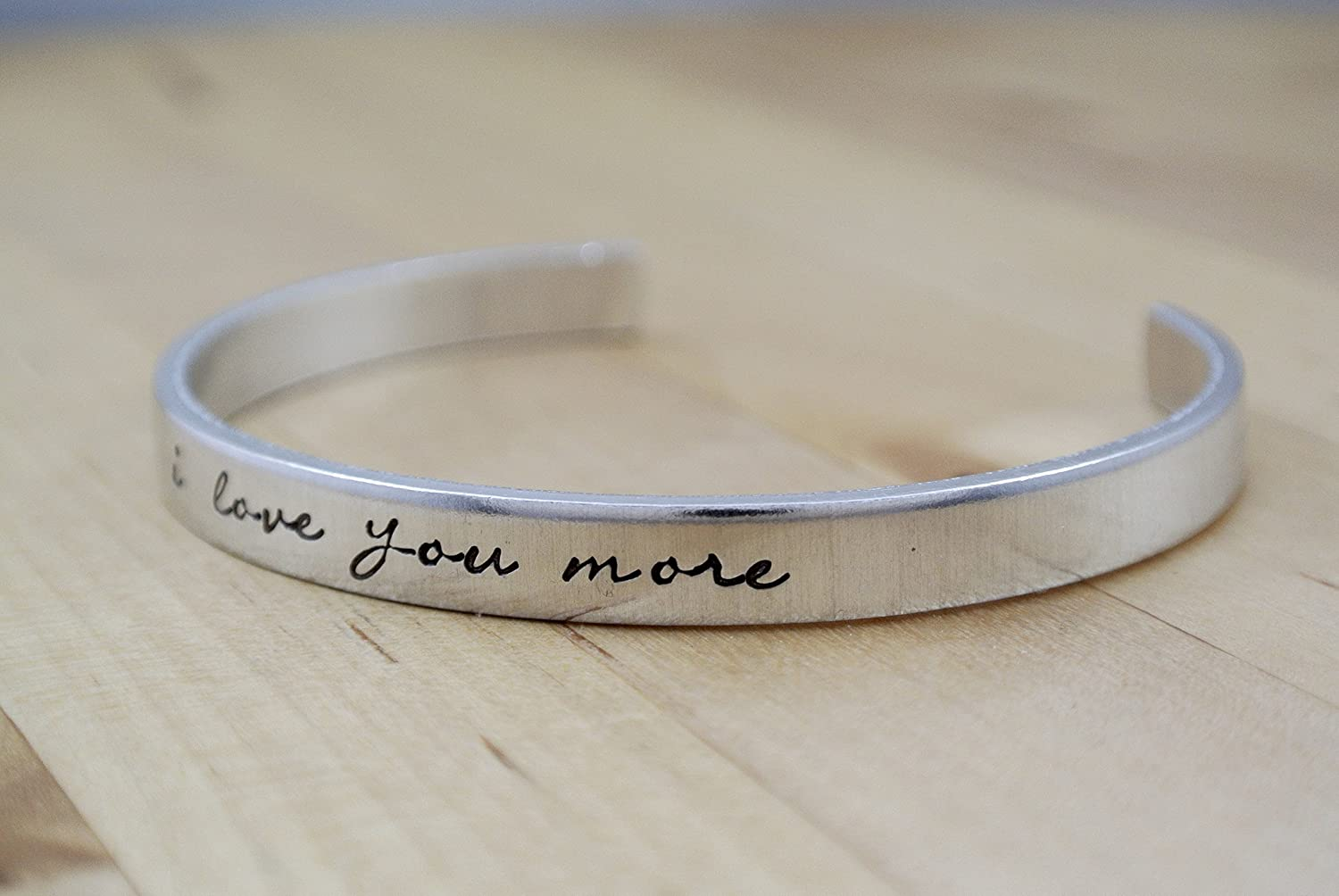 I Love You More Hand Stamped Bracelet | Hand Stamped Jewelry | I ...