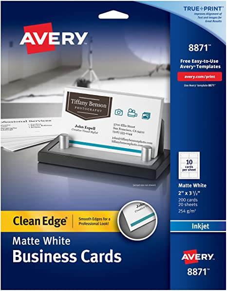 amazon com avery two sided printable clean edge business cards for