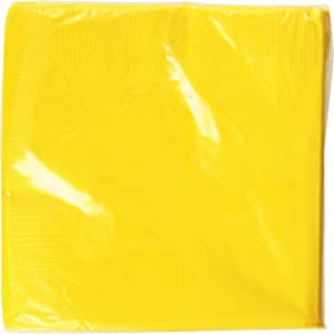 Sunshine Yellow 3-Ply Beverage Napkins | Pack of 50 | Party Supply