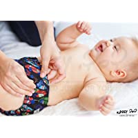 KASSY POP CURATED JUST FOR YOU Kid's Cotton 3 in 1 Reusable Diaper Cover (0-36 Months)