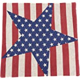 1 X Vintage Style American Flag the Stars and the Stripes Throw Pillow Case, Pillowcase (Big Star)