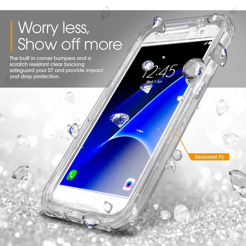 promo code d1dd8 0a557 Amazon.com: Galaxy S7 Case, Samsung Galaxy S7 Clear Case, rooCASE ...