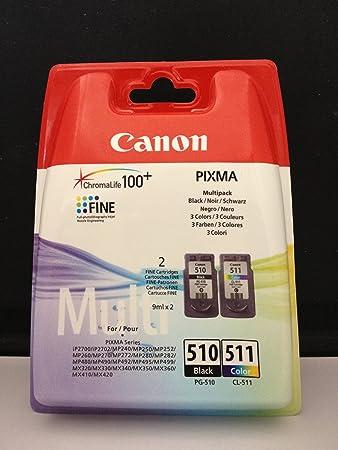Canon 2970b010 Pg 510 Cl 511 Multi Pack Tintenpatrone Original Schwarz Cyan Magenta Gelb Mehrfachverpackung 2 Stück E Pg 510 Cl 511 Multi Pack Bürobedarf Schreibwaren