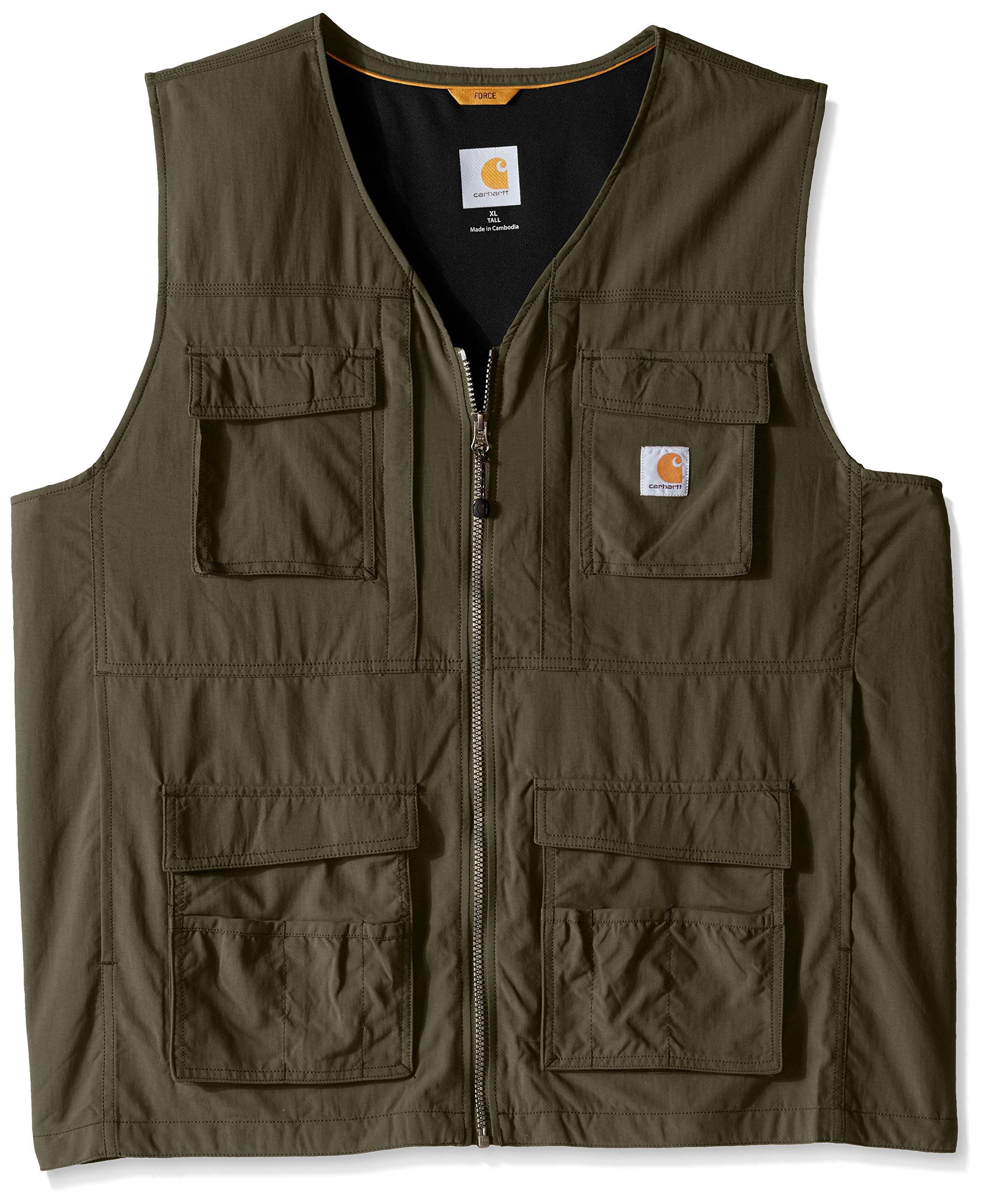 Carhartt Men's Big Briscoe Vest, Moss, 2X-Large/Tall