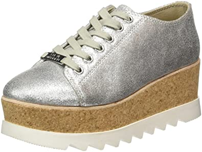 a836d34474a Steve Madden Women s Korrie Low-top Sneakers Silver (Silver Metallic) 7.5  UK  Buy Online at Low Prices in India - Amazon.in
