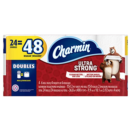 Amazon.com: Charmin Ultra Strong Bathroom Tissue Double Rolls - 24 CT: Health & Personal Care