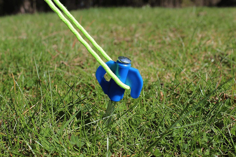 OLPRO Piquets de Tente Sol Dur Crochets Plastique Solide 100 pièces durables