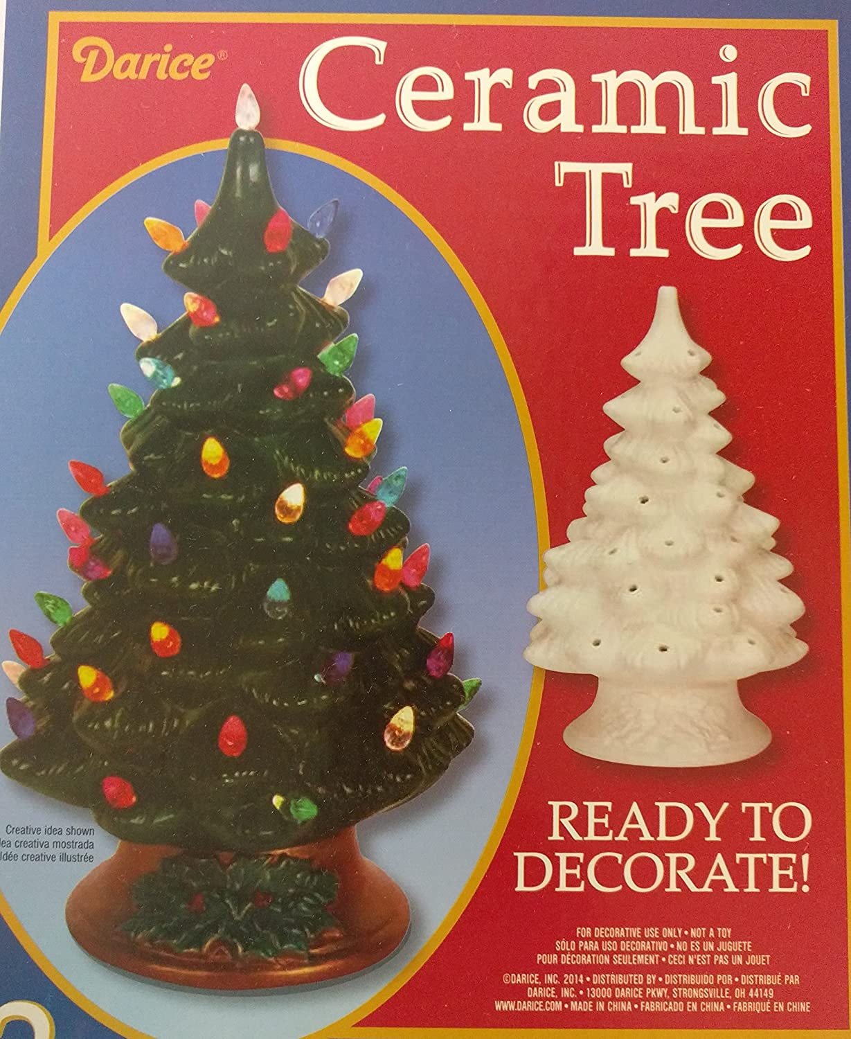 Diy Unfinished Ceramic Christmas Tree 11 4 Inch