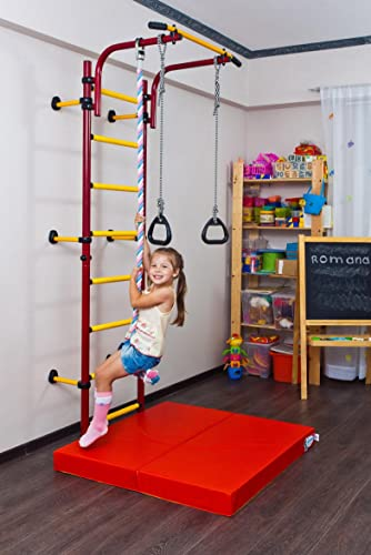 Comet NEXT1 Kids Indoor Home Gym Swedish wall Pullup Rings Clmb Rope