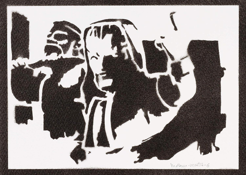 Ice wizard clash royale poster handmade graffiti street art