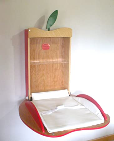Fold Down Baby Changing Table Apple Design (Red)