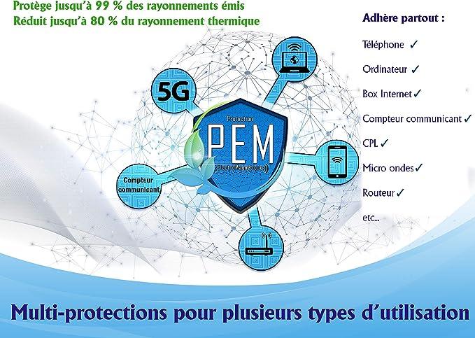Protección electromagnética | 5 parches anticampos magnéticos EMF, neutralizador de ondas, antiradiaciones, ondas domésticas, teléfono móvil, wifi, ...