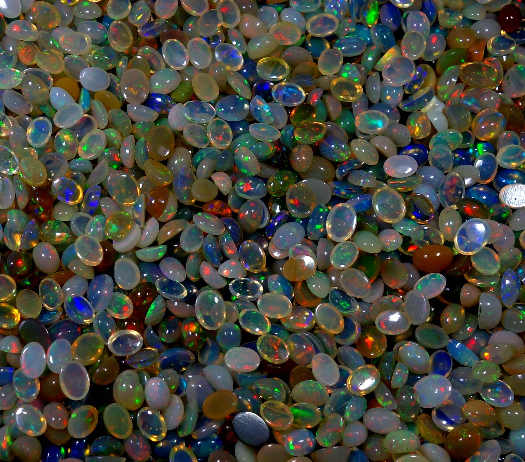 201 Cts Wholesale Lot Natural Ethiopian Welo Multi Fire Opal Calibrate Mix Shape Cabochons Gemstone