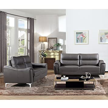 Peachy Christies Home Living Rachel Collection Modern Leather Fabric Upholstered Stationary 2 Piece Set Camellatalisay Diy Chair Ideas Camellatalisaycom