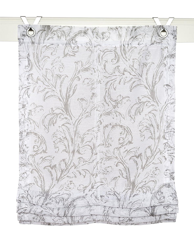 Tenda a pacchetto Shania grigio con occhielli 45 * 130 cm Rollos & More