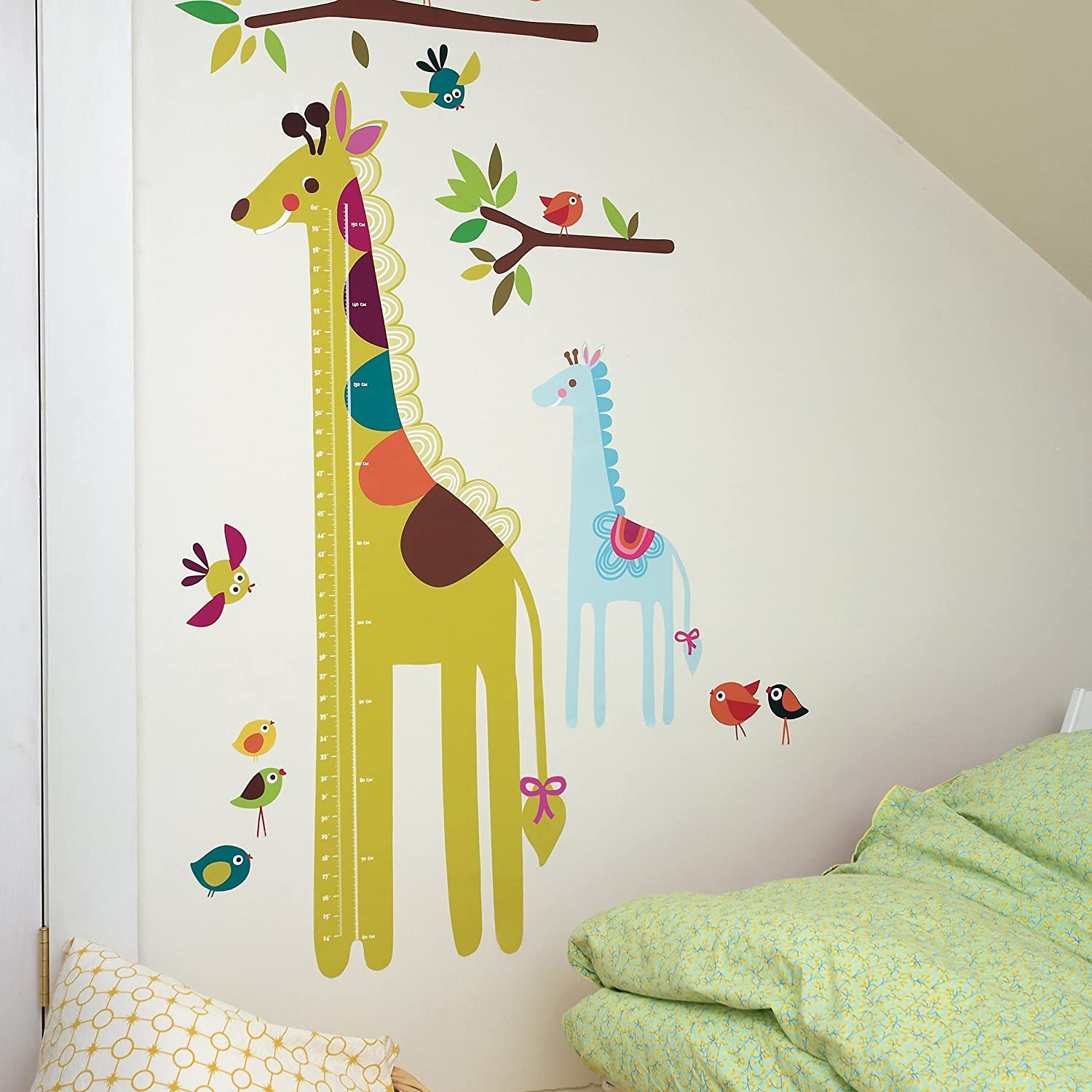 Amazon wallies wall decals giraffe growth chart wall sticker amazon wallies wall decals giraffe growth chart wall sticker home kitchen geenschuldenfo Image collections
