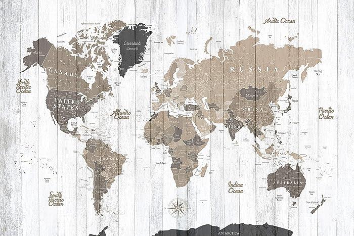 Amazon.com: Detailed World Map Push Pin Map On Canvas World Travel on