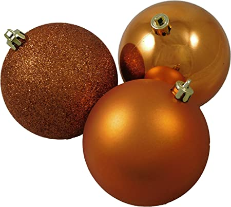 Baubles 100mm Christmas Decorations Pack 4 Large Copper Ball